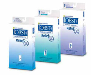 Jobst Relief Med. Knee High Compress. Sock Legwear-15 to 20 mmHg