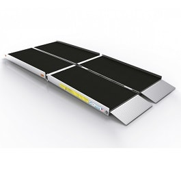 8\' Trifold Aluminum Ramp With Slip Resistance Surface-800 Lb Cap
