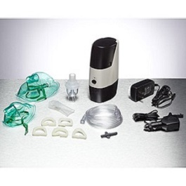 Portable Nebulizer Compressor and Kit w/ Rechargable Battery