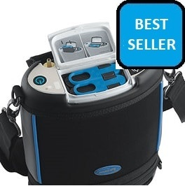 Portable Lite Oxygen Machine Weights 4.98 Lbs-2 Batteries in Houston TX by Invacare