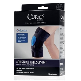 Breathable Adjustable Knee Support with Antimicrobial Microban